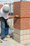 Bricklaying Detail Work Stock Photo