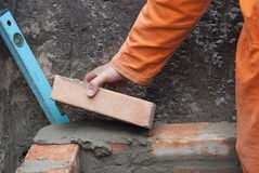 Bricklaying Royalty Free Stock Photography