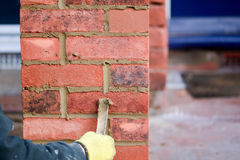Bricklaying - pointing render Royalty Free Stock Photography