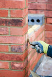 Bricklaying - pointing render Stock Photo