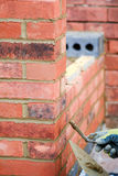 Bricklaying - pointing work Royalty Free Stock Images