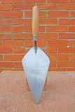 Bricklaying trowel. Royalty Free Stock Photos