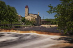 Brickner Woolen Mill. A view of the historic Brickner Woolen Mill in Sheboygan Falls, Wisconsin Royalty Free Stock Photos