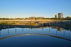 Brickpit在悉尼奥林匹克公园的圆环步行 免版税库存图片