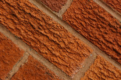 Bricks 01. Textured bricks and mortar royalty free stock photography