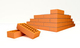Bricks. Are isolated on a white background Royalty Free Stock Image