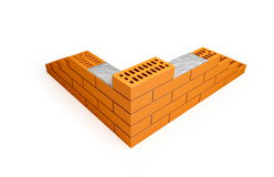 Bricks. Are isolated on a white background Royalty Free Stock Photos