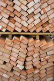 Bricks. Many red bricks in a stacked Royalty Free Stock Images