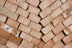 Bricks. Many red bricks in a stacked Royalty Free Stock Image
