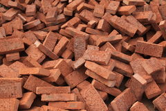 Bricks. Fall around,brick by brick stock photos