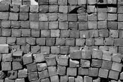 Bricks. Black and white photo of bricks stock photo