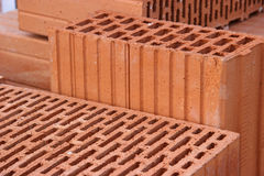 Bricks. Close up of bricks at construction Stock Photo