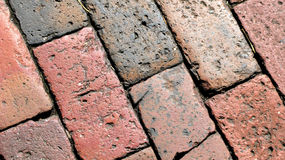 Bricks. Red bricks and dark bricks background Stock Images