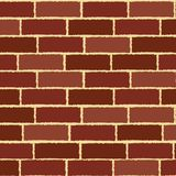 Bricks. Brick wall texture in various tones of red Royalty Free Stock Photo