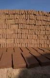 Bricks. Drying in the sun Stock Image