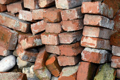 Bricks. Stack of old and used red bricks Stock Photos
