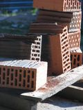 Bricks 2. Red bricks for construction industry stock image
