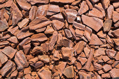Bricks. Heap of a beaten brick - grunge background Stock Image