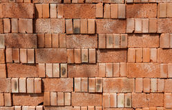 Bricks. Stacked in Beijing for building new homes Stock Image