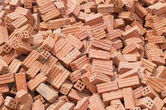Bricks. Group of bricks square construction materials Royalty Free Stock Photos