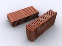 Bricks. Two bricks on white background Royalty Free Stock Images