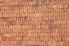 Bricks. Stacks of bricks waiting to be used in construction Stock Images