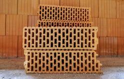 Bricks. Several insulating bricks at a construction site Royalty Free Stock Image