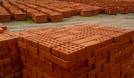 Bricks. Rick-red bricks for building royalty free stock images
