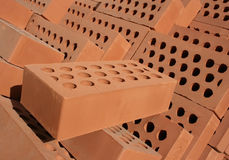 Bricks. Heap of red bricks close up Royalty Free Stock Image