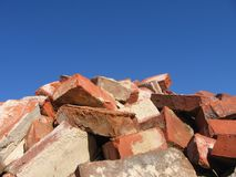 Bricks. On the blue sky Stock Photo