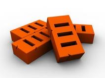 Bricks. 3d illustration of bricks over white background Stock Photo