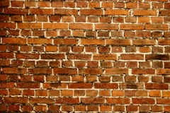 Bricks. Wall from red bricks. Background Stock Photos