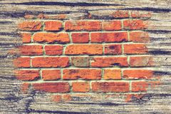 Free Bricks And Timber Double Exposure Royalty Free Stock Photography - 122173627