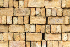 Bricks arranged in rows. Stock Image