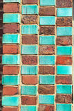 Bricks in art nouveau style Royalty Free Stock Image