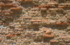 Old brick wall background. Old brick wall in Venice Royalty Free Stock Photos