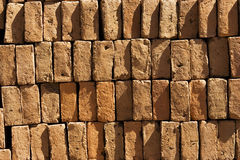 Bricks Background. A background with a view of stacked bricks Royalty Free Stock Photos