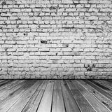 Bricks in black and white room Royalty Free Stock Photography