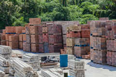 Bricks Blocks Concrete Products Stock Image
