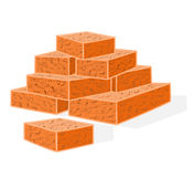 Bricks building material vector. Illustration without gradients Royalty Free Stock Photos