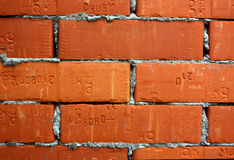 Bricks with cement Royalty Free Stock Photos