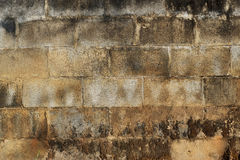 Bricks and cement old wall texture Royalty Free Stock Images