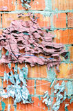 Bricks cement wall camouflage net background Stock Photography