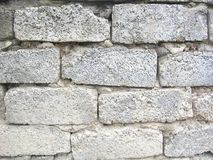 Bricks from cinder blocks. Royalty Free Stock Image