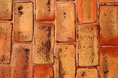 Bricks clay soil pavement traditional Spain Stock Photography