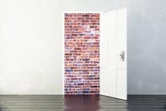 Bricks closed door concept Stock Photos