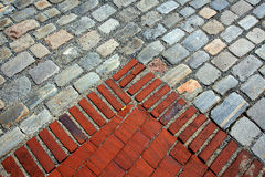 Bricks and cobble stones Royalty Free Stock Photos