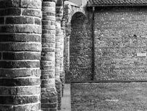 Bricks. Colonne del Centro Culturale San Bernardino a Caravaggio Stock Photography