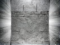 Bricks and Concrete texture 3d presentation Royalty Free Stock Photos