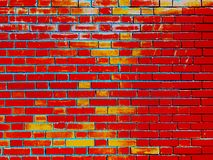 Red bricks and concrete texture for pattern abstract background. Bricks and concrete texture for pattern abstract background stock photos